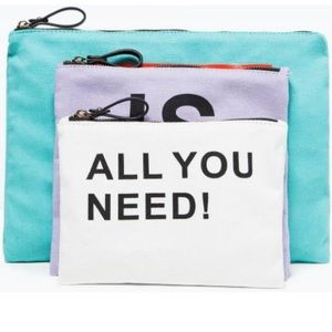 NWT. Zara Accessories Summer Pouch Make up bags.
